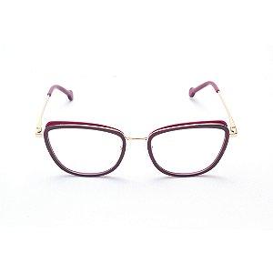 Armação para Óculos de Grau Feminino Acetato com Plaquetas Gatinho