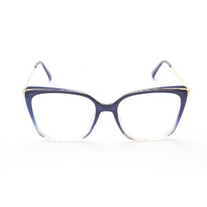Armação para Óculos de Grau Feminino Acetato Quadrado Azul Degradê