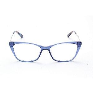 Armação para Óculos de Grau Feminino Retangular Gatinho Azul