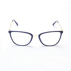 Armação para Óculos de Grau Feminino Gatinho Azul Marinho