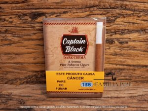 Cigarrilha Captain Black Dark Crema  c/8