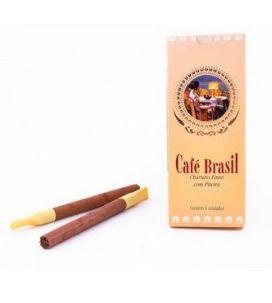 Cigarrilha Café Brasil Chocolate Com Piteira CX C/5