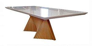 Mesa de  Jantar Gaia com Vidro Tonalizado