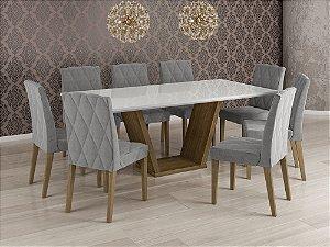 Mesa de Jantar com 8 Cadeiras 2,00 x 1,00 mts