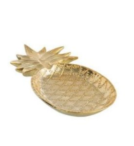 Centro sd09-abacaxi dourado 26x14 x3cm