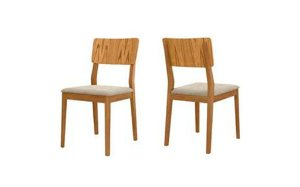 Cadeira de Jantar -turim pelin enc. madeira unidade