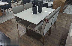 Mesa de Jantar com 4 Cadeiras 120 x 0,90 mts
