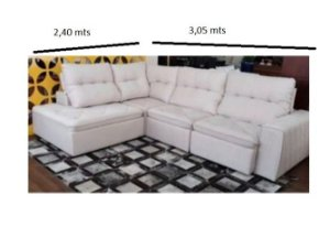 SOFA SD02-FRATER KONF CHAISE  3,00 X 2,40 MTS
