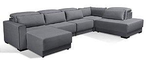 Sofa sd02 mo-fmrt modelo brg com chaise 3,70 x 2,30 mts