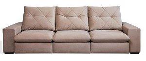 Sofá Retrátil e Articulado Mega Conforto molas ensacadas com 3 Módulos