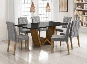 Cjt mesa sd03-mona nl + 06 cadeiras bel
