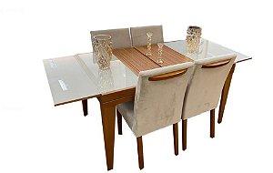 Conjunto de jantar elástica sd03- com 4 cadeiras