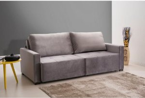 Sofá cama sd02- frança - emporio -  tec rosé