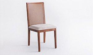 Cadeira de jantar em  Madeira com Tela