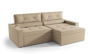 Sofá Retratil e Articulado com Sistema de Som 2,53m