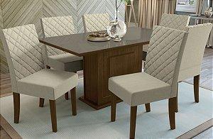 Mesa de Jantar com 6 Cadeiras Firenze