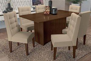 Mesa de Jantar com 6 Cadeiras Leonel