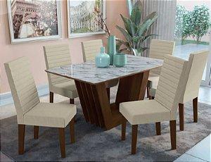 Mesa de jantar com 6 Cadeiras Saturno