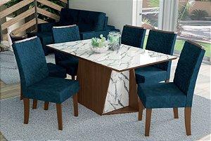 Mesa de jantar com 6 Cadeiras Lince