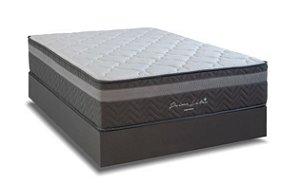 Cama Box Casal Mola Ensacada Queen Londres 1,58 x 1,98 ( BOX BI-PARTIDO)