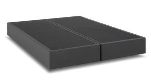 Base Cama Box King Size Cinza Califórnia 1,93 x 2,03 mts ( Bi- Partida)