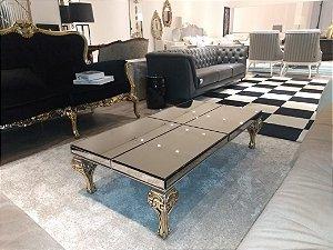 Mesa de centro sd08 versalhes - espelho prata pés ouro 03 1,20x0,60m