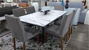 Mesa de jantar  com 6 Cadeiras 1,80 x 1,00 mts