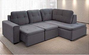 Sofá Com Chaise Montreal 2,57 x 2,01 mts