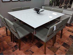 Conjunto de Mesa com 8 Cadeiras Vogue
