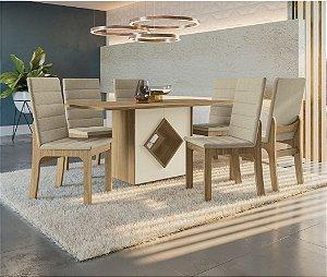 Conjunto de Jantar com 6 Cadeiras Larissa