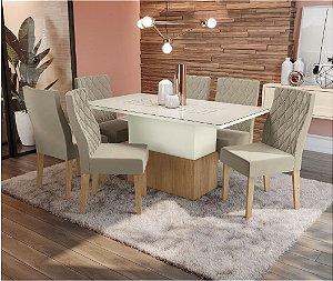 Cjt de de Jantar com 6 Cadeiras Luana