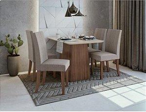Conjunto de Jantar com 4 Cadeiras Uni