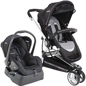 Carrinho de Bebe Bebe Conforto e Base Kiddo Compass II Preto