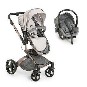 Carrinho de Bebe Bebe Conforto Dzieco Vulkan 360º Cinza