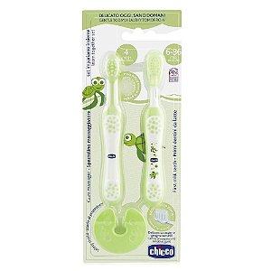 Escova Dental Infantil Chicco Conjunto de Aprendizagem