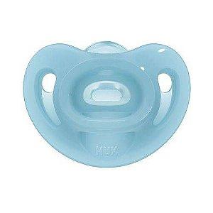 Chupeta Sensitive Soft 100% Silicone Boy S2 Azul 6+ Tamanho 2 NUK