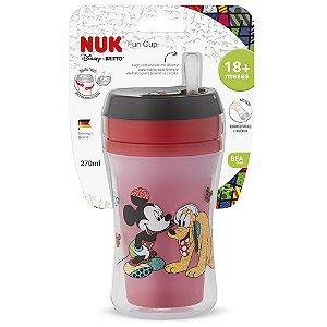 Copo Fun Cup Com Canudo Em Silicone 270ml Disney By Britto - NUK