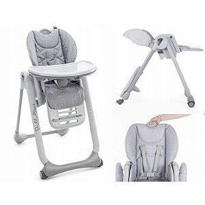 Cadeira de Refeição Chicco Polly2start Happy Silver
