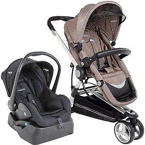 Carrinho de Bebe Bebe Conforto e Base Kiddo Compass II Cappuccino