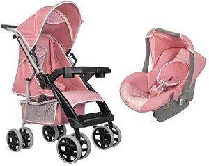 Carrinho de Bebe Bebe Conforto Tutti Baby Thor Rosa Coroa