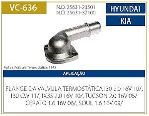 flange bocal da valvula termostatica hyundai i30 / tucson / elantra / accent