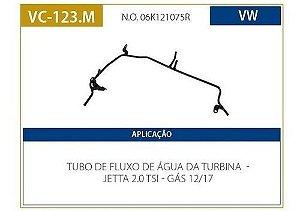 tubo de refrigeração da agua do motor jetta vc123m valclei