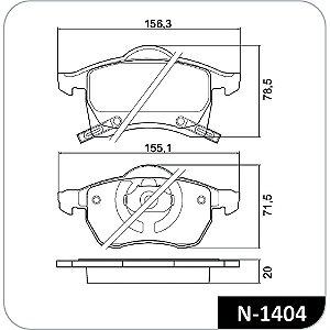 Pastilha de freio troller t4 dianteira original cobreq n-1404