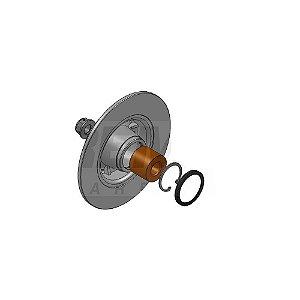 Disco de freio renault clio / megane - kit com cubo, aneis e porca BD7823KT