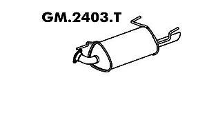 Silencioso Astra 1.8 8V 98... / 2.0 8V 98 A 2000 Gasolina / Álcool