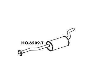 Silencioso Honda Accord Lx 2.2 / Sw 94 A 97 Traseiro Sw