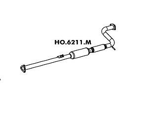 Silencioso Honda Accord Lx 2.2 / Sw 94 A 97 Accord Lx 2.2 / Sw 94 A 97 Intermediario