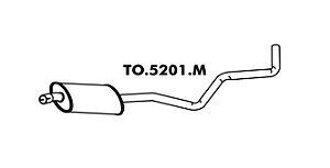 Silencioso Toyota Corolla 1.8 98 A 2002 Intermediario