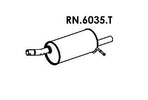 Silencioso Duster 1.6 16V / 2.0 16V 4X2 2012 Em Diante Traseiro