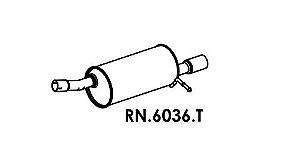 Silencioso Duster 1.6 16V / 2.0 16V 4X2 2012 Em Diante Ponta Polida Traseiro